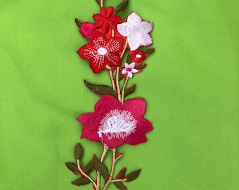 Embroider flower Aplique patch Iron on.