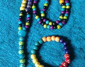 Set of Universal prayer beads with matching bracelet