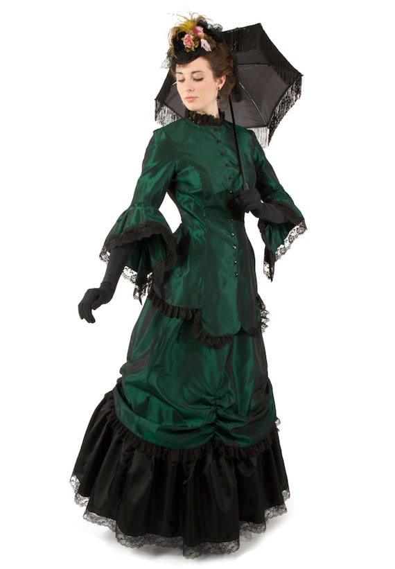 PLUS VICTORIAN skirt /& Pinny FANCY DRESS SET Ladies Womens sml