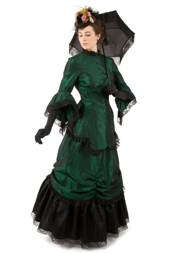 Old Fashioned Dresses | Old Dress Styles 1880 Corinna Victorian Fancy Dress $187.46 AT vintagedancer.com