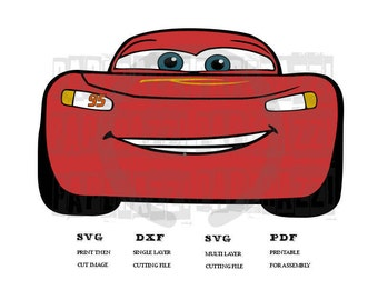 Cars 3 - Lightning McQueen SVG DXF FCM for Cricut Design Space - Silhouette Studio