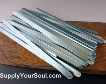 "Aluminum Bracelet Blanks, 1/4""x6"", Metal Cuff Bracelet, 14G Aluminum ImpressArt Stamping Blanks, Cuff Blanks, Choose 6 to 144"
