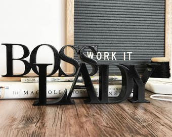 Lady Boss Sign   Self Standing Decor   Perfect for the Office   Lady Entrepreneurs   Boss Lady   Desk, Office, or Home Decor   Custom Colors