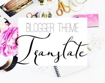 Blogger template translate    theme translation