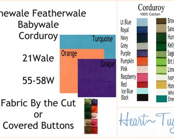 Corduroy Finewale Featherwale Babywale 21 wale Blue Black Kelly Green Lime Honey Turquoise Grape Pumpkin Orange Grape Black Royal Navy Pink