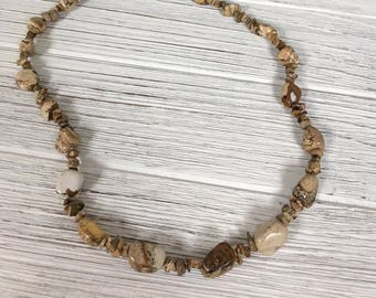 Necklace with Sand Jasper Beads