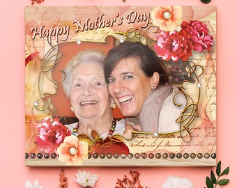 NEW!!! Bead's and Flowers  MOTHER'S DAY Photo Print