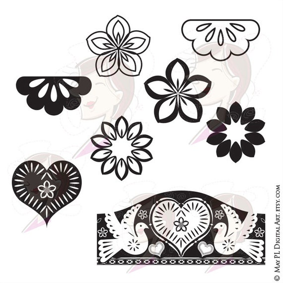 Mexican Flower Clipart Border