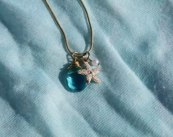 Mermaid Collection** Sea glass and starfish necklace