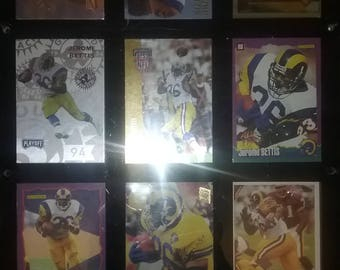 Jerome Bettis Custom 9 Card Lot--you pick--In a Wall Mountable Display Case