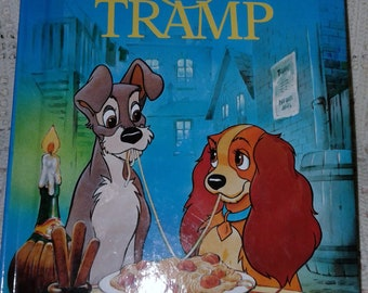 1994 Lady and the Tramp Disney's Wonderful World of Reading  Glossy Book