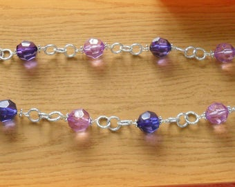 Long purple necklace