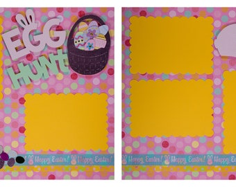Pre-made Scrapbook Pages: Egg Hunt