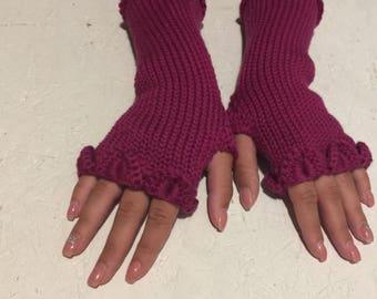 2017 new fingerless gloves dragon scale knit gloves arm warmers winter gloves women gloves wrist warmers women gift long fingerless mittens