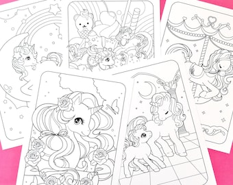 Unicorn & Friends A5 Colouring Pages - Set of 5