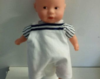Overalls and t-shirt for 20cm mini cuddly Doll or corolline