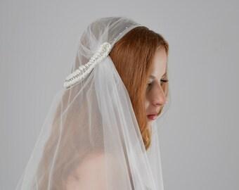 MADE TO ORDER Juliet Cap Schleier, Hochzeitsschleier, bestickter Tüll Kappe Schleier, lange Schleier, Dom Schleier, Schleier Mütze, Hochzeits-verschleiern, Kapelle Schleier