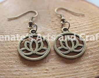 Elegant lotus earrings