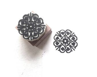 Rosette Rubber Stamp | 027153