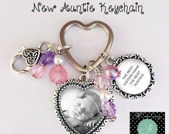 New Auntie Keychain - Gift for Auntie - New Aunt gift - Aunt keychain