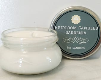 Gardenia Scented Soy Candle - hawaiian candle - gift for her - tropical candle - floral candle - home decor gift - summer soy candle