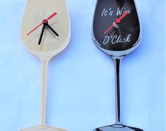 Red White Wine Clocks Drink Alcohol Kitchen Home Decor Decoration Quirky