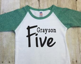 Birthday Boys Shirt Persomalized-Fifth Birthday Boy Shirt-Birthday 5th Birthday Boy Shirt-Five Birthday Shirt