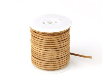 Lion Round Leather Cord, 3mm Leather Cord, Genuine Leather Cord, Pkg of 30 ft., D0F7.LI0Y.L30F