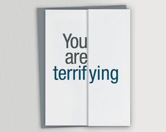 Funny Card for Boss / Terrifying / Funny Boss Card / Funny Boss Gift / Funny Boss's Day Card / Funny Birthday Card for Boss