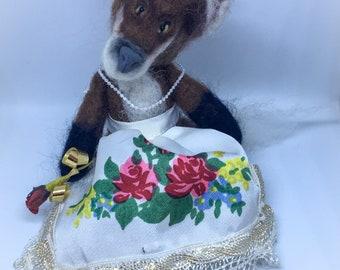 Needle Felted Fox - Mrs Fox