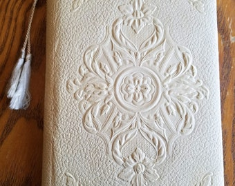 Beautiful Vintage Wedding Memories Book, ca. 1940, Embossed Cover, Lovely Graphics