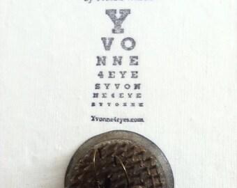 Eye Chart Earrings. Eye Hear Rain.Eye Chart.Wearable Eye Chart.Vision.Site.Optometrist.Gift Under 20.by Yvonne4eyes