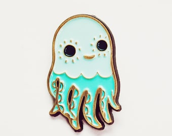 Enamel Pin - Octopus Pin - hat pins - Squid Lapel Pin - octopus Pins Kawaii Octopus Brooch, brooches octopus jewelry