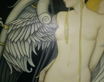 Angel Wing. An Original Oil on Canvas Hand Painted
