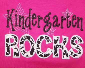 Kindergarten Rocks School T- Shirt