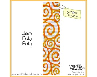 Bead Loom Pattern: Jam Roly Poly - INSTANT DOWNLOAD pdf -Discount codes are available - bl143