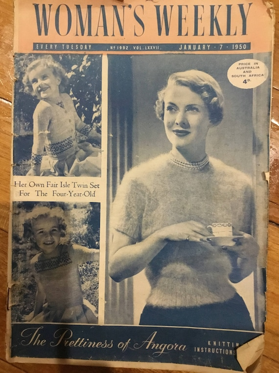 Womans Weekly January 7 1950 Includes Vintage Knitting Patterns