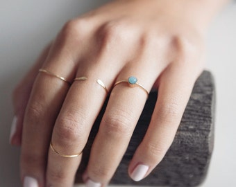 Amazonite Ring | 14K Gold Filled | Stacking Ring | Dainty Ring | Minimalist Jewelry | Thin Ring | Stone Ring | Gift For Her