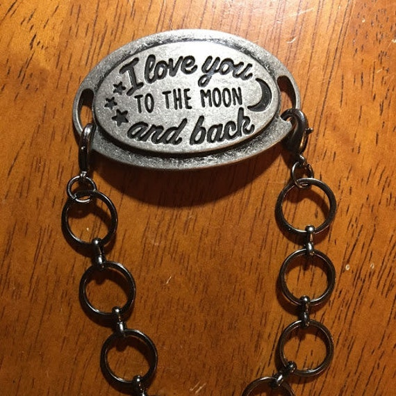 To The Moon and Back Tag Bracelet