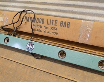 4 Light Movie Exposure Lamps Harwood Lite Bar Model No 521x Film Original Box, Movie Lamps, Film Exposure, Light Bar
