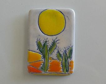Magnet handmade cactus