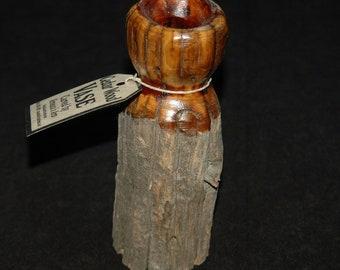 Cedar Wood Vase Hand Carved - Dry Vase - Cedar Log Vase - Weathered Wood - Hand Carved Wooden Vase Decorative Vase -Rustic Vase