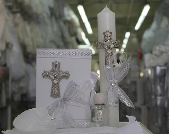 Mercy: Baptism, First Communion Candle Set