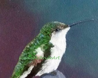 Hummingbird 5x7 Blank Notecard with Envelope