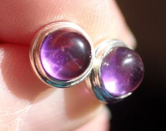 Royal Purple - Amethyst Sterling Silver Earrings