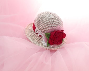 Red Rose Hat for SD BJD