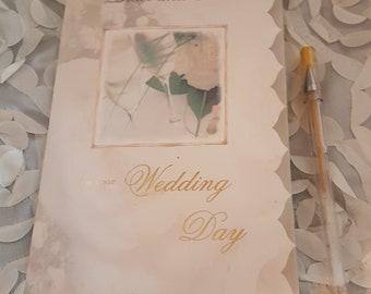 Wedding Card, Personalized Wedding Card, Custom Wedding Card Personalised, Greeting Cards Handmade, Card for Wedding Day,