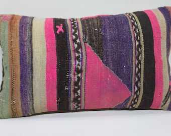 kilim lumbar pillow handmade copridivano throw cover 10x20 embroidered pillow rectangular sofa kilim pillow cushion cover throw pillow   569
