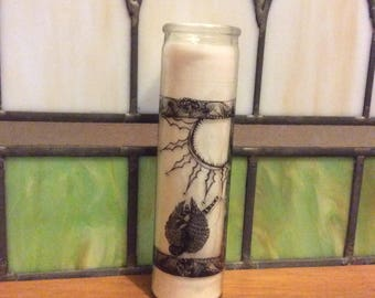 The Sun tarot prayer candle