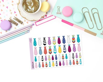 "ALL ""TIED"" UP Paper Planner Stickers!"